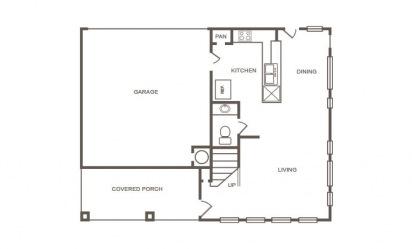Cedar - 4 bedroom floorplan layout with 2.5 bath and 1429 square feet